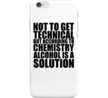Funny Solution 2 iPhone Case/Skin