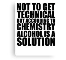 Funny Solution 2 Canvas Print