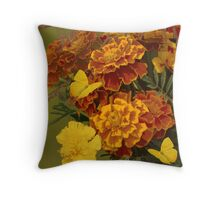 Party at the Marigolds Throw Pillow