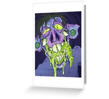 Barf Monster Greeting Card