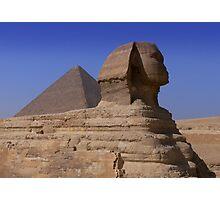 Pyramid and Sphynx Photographic Print