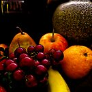 Still Life Fruit with a Vase by jojocraig