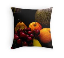 Still Life Fruit with a Vase Throw Pillow