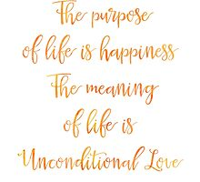 The purpose of life is happiness Rami Bleckt quote Mango by Pranatheory