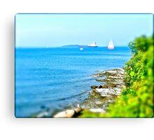 """""""Looking Up Narrgansett Bay"""" - Rhode Island - © 2009 AUG Canvas Print"""