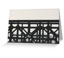 Bridge Rail  Greeting Card