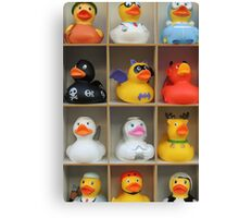Which Rubber Duck for My Next Bath? Canvas Print