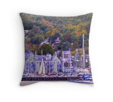The Harbor of Bayfield Throw Pillow