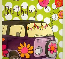 Happy Hippie Birthday by ©The Creative  Minds