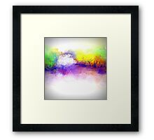 Trees in Purple, Yellow, and Green Framed Print
