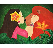 A girls love for animals Photographic Print