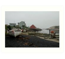 Foggy day, Peggy's Cove Art Print