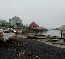 Foggy day, Peggy's Cove by Richard  Stanley