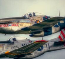 North American P-51 Mustangs Sticker
