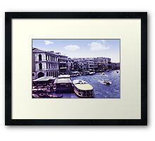 Vintage Venice Waterway Framed Print