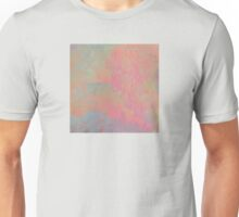 Tree Impressions in Soft Pink with Hues of Green and Silver Unisex T-Shirt