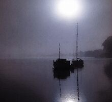Full Moon On The Rise by John Donatiu