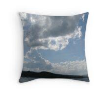 Newport, Vermont waterfront Throw Pillow