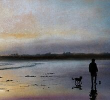 One man and his dog by Graham Clark