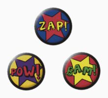 Buttons: Comic Kids Clothes