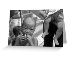 children of the philippines: smiles, strength and poverty Greeting Card