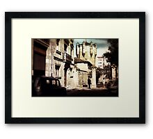 Vintage Spanish gate Framed Print