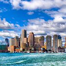 Boston Skyline Viewed over the Harbor by Mark Tisdale