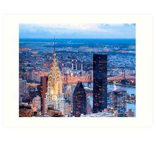 New York Nights - Chrysler Building on the Skyline Art Print