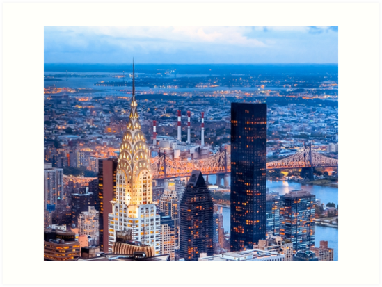 New York Nights - Chrysler Building on the Skyline by Mark Tisdale