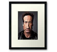 Celebrity Sunday - David Duchovny Framed Print