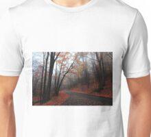 foggy fall drive Unisex T-Shirt