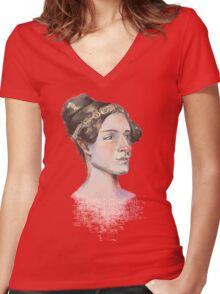 Ada Lovelace - The First Computer Programmer Women's Fitted V-Neck T-Shirt