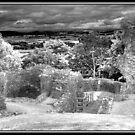 Faux infra red of Denbigh Castle by Kelvin Hughes