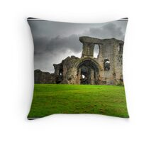 Denbigh Castle, North Wales Throw Pillow