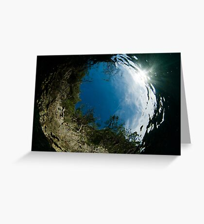 Portal to the sky Greeting Card