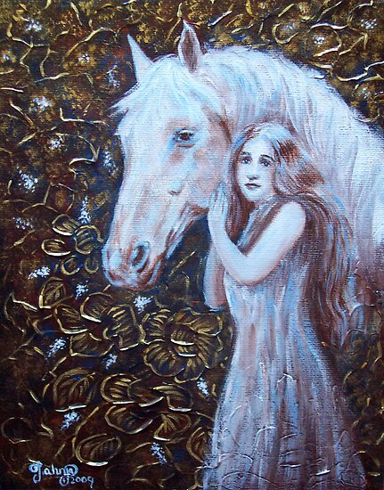 White Horse Beauty III by Tahnja