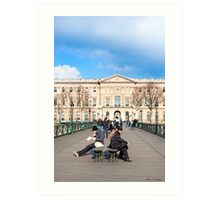 Parisian Style - The Louvre Art Print