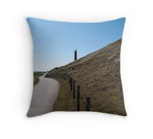 Lighthouse in the dunes Throw Pillow