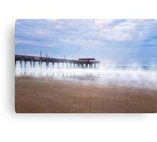Mists Beneath Tybee Pier Canvas Print