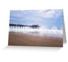 Mists Beneath Tybee Pier Greeting Card