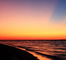 walking the beach at sunrise. Sticker