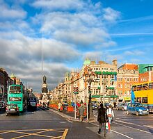 Dublin Stroll - O'Connell Street by Mark Tisdale