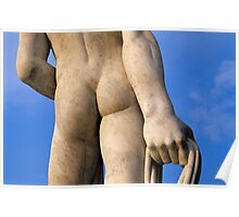 Athlete Statue at Foro Italico, Rome, Italy  Poster