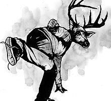 Deer God (Save Us) - Part 4 - Final Inks by matthewdunnart