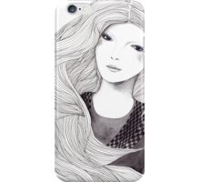 Catching A Moment Fashion Illustration Portrait iPhone Case/Skin