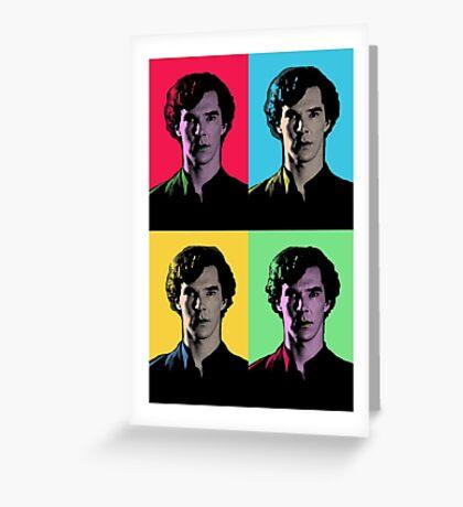 Benedict Cumberbatch Pop Art  Greeting Card