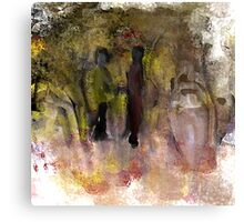 Two Friends in the Park Canvas Print
