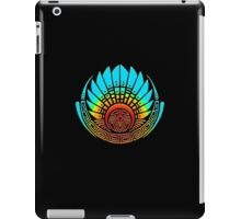 Mayan mask, crop circle, Quetzalcoatl iPad Case/Skin