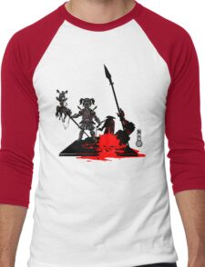 The Game of Kings, Wave Eight: The Black Queen's Pawn Men's Baseball ¾ T-Shirt