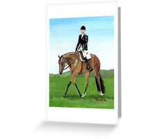 The Hunt Seat Horse Quarter Horse Portrait Greeting Card